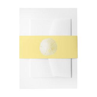 砂ドルの黄色 招待状ベリーバンド
