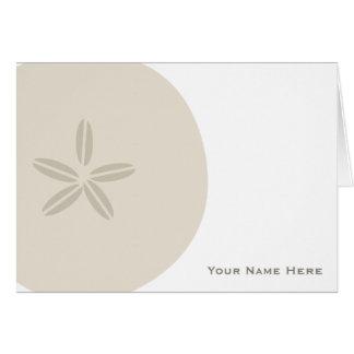 砂ドル名前入りなNotecard カード