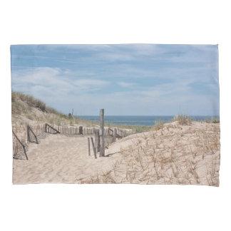 砂丘およびビーチの塀 枕カバー