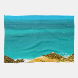 砂丘および海Jericoacoaraブラジル キッチンタオル
