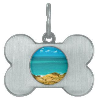 砂丘および海Jericoacoaraブラジル ペットネームタグ