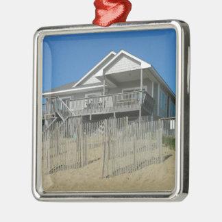 砂丘のビーチハウス メタルオーナメント