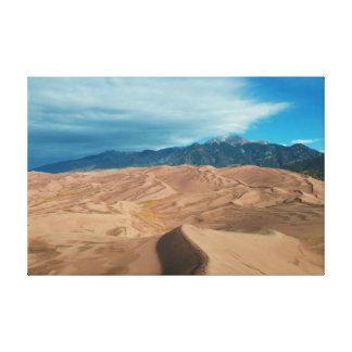 砂丘の接近の嵐 キャンバスプリント