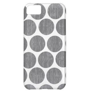 砂利の灰色の動揺してな水玉模様のiPhone iPhone5Cケース