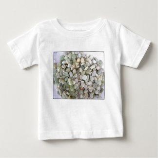 砂利石および色 ベビーTシャツ