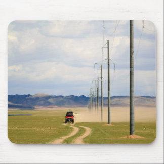砂利道、ゴビ砂漠の4X4車 マウスパッド