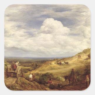 砂場、Hampsteadのヒース1849年 スクエアシール