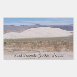 砂山Fallon、ネバダ 長方形シール