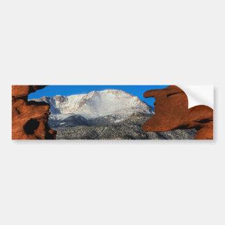 砂岩によって組み立てられるアメリカの山 バンパーステッカー