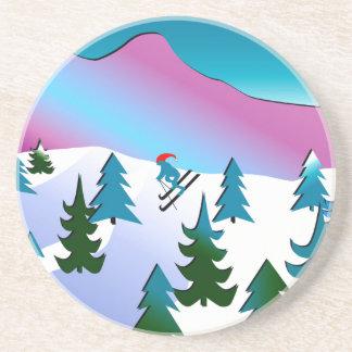 砂岩コースターのスキー斜面の芸術 コースター