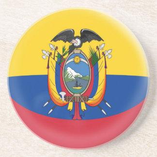 砂岩コースター-エクアドルの旗 コースター