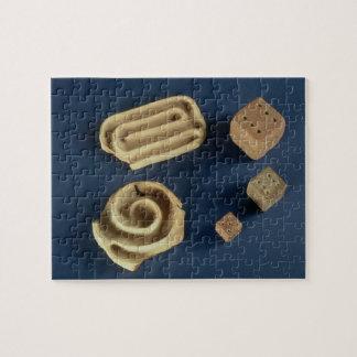 砂岩サイコロおよびテラコッタ当惑のゲーム、Harappa、 ジグソーパズル