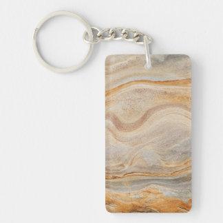 砂岩背景-砂、カスタマイズ石造りの石 キーホルダー