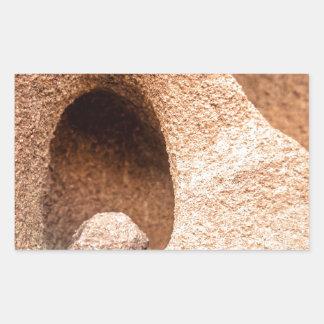 砂岩静物画 長方形シール