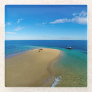 砂州およびダウ|のイボ族の島、モザンビーク ガラスコースター