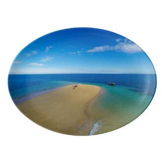 砂州およびダウ|のイボ族の島、モザンビーク 磁器大皿