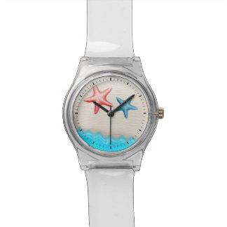 砂浜およびヒトデ 腕時計