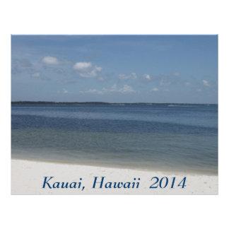 砂浜および青い海の休暇のスクラップブックの紙 レターヘッド