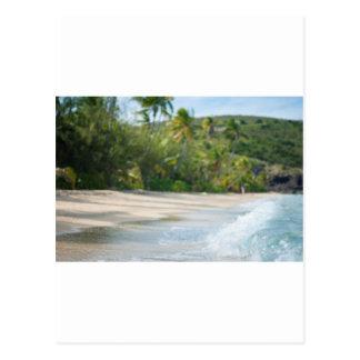 砂浜で壊れる波 ポストカード