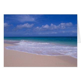 砂浜に泡立つ海洋波 カード