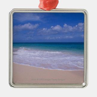 砂浜に泡立つ海洋波 メタルオーナメント