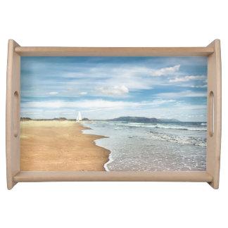 砂浜のトレイ トレー
