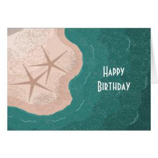 砂浜のヒトデ ノートカード