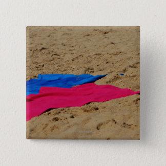砂浜の着色されたタオル 5.1CM 正方形バッジ