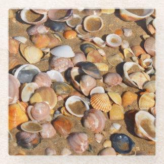 砂浜|アンダルーシア、スペインの貝 ガラスコースター