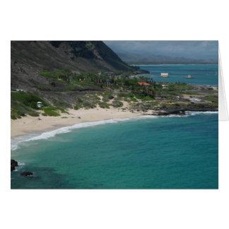 砂浜、オアフ、ハワイ カード