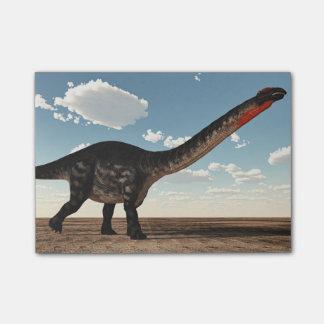 砂漠のアパトサウルスの恐竜- 3Dは描写します ポストイット