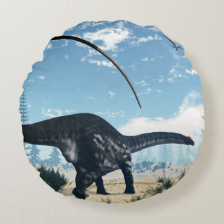 砂漠のアパトサウルスの恐竜- 3Dは描写します ラウンドクッション