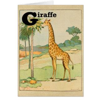 砂漠のキリンの食べ物のアカシア カード