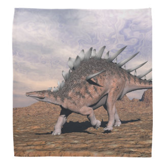 砂漠のケントロサウルスの恐竜- 3Dは描写します バンダナ