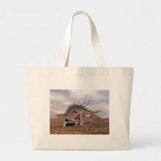 砂漠のケントロサウルスの恐竜- 3Dは描写します ラージトートバッグ