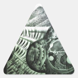 砂漠のサボテンの場所 三角形シール