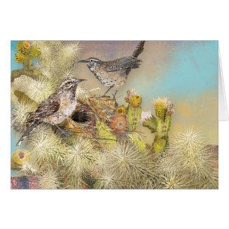 砂漠のサボテンの鳥の巣 カード