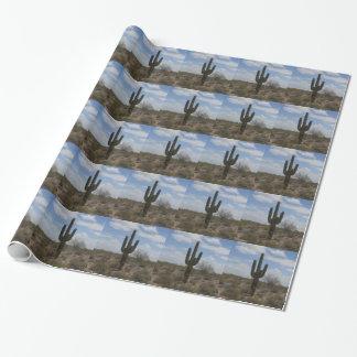 砂漠のサボテン ラッピングペーパー