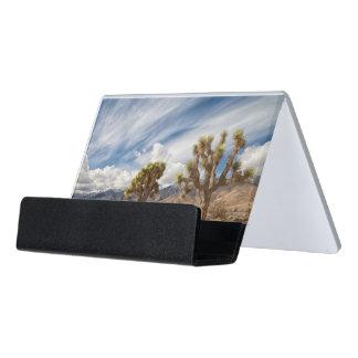 砂漠のジョシュアツリー デスク名刺ホルダー