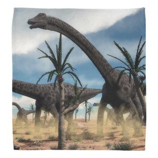 砂漠のディプロドクスの恐竜の群れ バンダナ