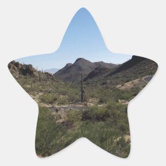 砂漠のパス 星シール