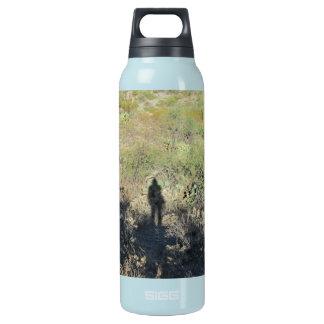 砂漠のボトルの人間の影 断熱ウォーターボトル
