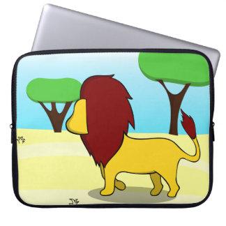 砂漠のライオン ラップトップスリーブ