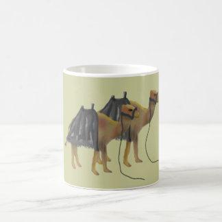 砂漠のラクダ コーヒーマグカップ
