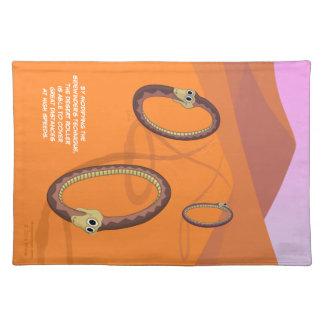砂漠のローラーのヘビのランチョンマット ランチョンマット