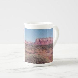 砂漠のヴィスタの骨灰磁器のマグ ボーンチャイナカップ