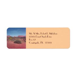 砂漠のヴィスタカスタムなAveryのラベル ラベル
