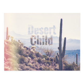 砂漠の児童の迷信の荒野|の郵便はがき ポストカード
