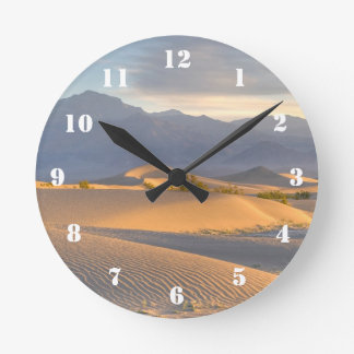 砂漠の夜明け ラウンド壁時計
