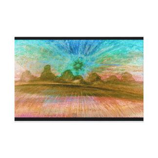 砂漠の太陽 キャンバスプリント